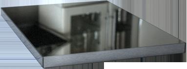 Küchenfrontmuster L1 Carbon schwarz Ultrahochglanz
