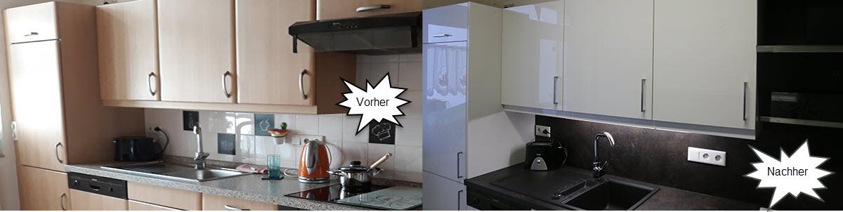 Rustikale Küchenfronten renoviert in Super Arctic 3D EffektWeiß 3D