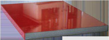 Küchenfrontmuster L1 Rubin rot Ultrahochglanz