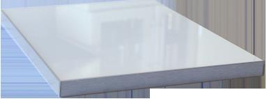 Küchenfrontmuster L1 Super Arctic Weiß 3D Ultrahochglanz