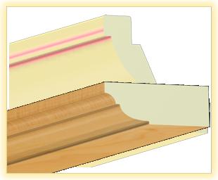 Kranzleiste VL Birne matt - Artikelnummer: 78VLHU 1