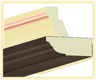 Kranzleiste VL Nussbaum metall - Artikelnummer: 78VLOR 1