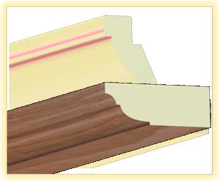 Kranzleiste VL Sauerkirsche metall - Artikelnummer: 78VLVI 1