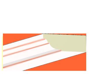 Kranzleiste VL Weiß Lachs patiniert - Artikelnummer 78VLJA 1