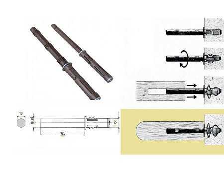 1pc verdeckte Regal Halterung d12x120mm 15KG/Paar