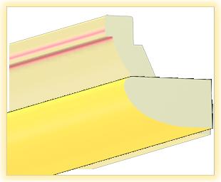 Kranzleiste VK Gelb