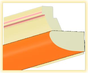 Kranzleiste VK Orange
