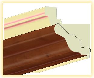 Kranzleiste VH Calvadoslvados patiniert