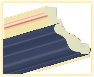 Kranzleiste VH Blau