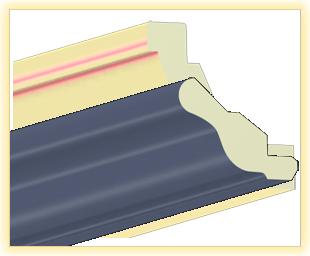 Kranzleiste VH Blau-Grau