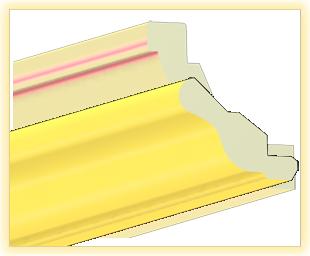 Kranzleiste VH Gelb