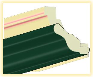 Kranzleiste VH Dunkelgruen