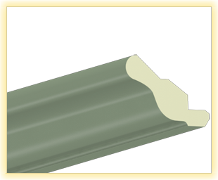 Kranzleiste VH Oliv