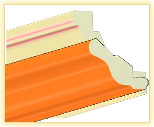 Kranzleiste VH Orange