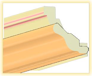 Kranzleiste VH Pfirsisch