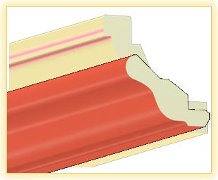 Kranzleiste VH Ziegelsteinrot