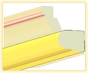Kranzleiste VS Gelb