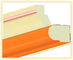 Kranzleiste VS Orange