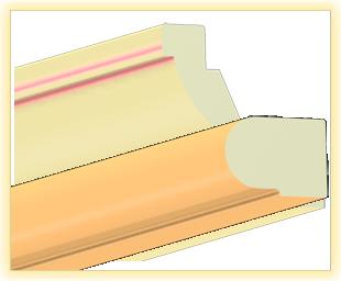 Kranzleiste VS Pfirsisch