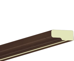 Kranzleiste VG Nussbaum metall