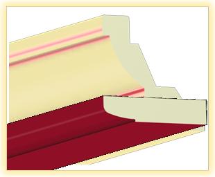 Kranzleiste LA Rot glaenzend