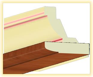 Kranzleiste LA Calvados