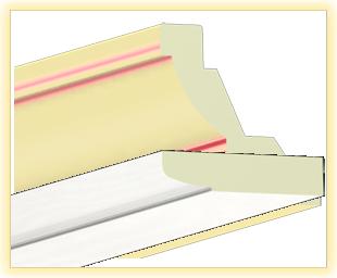 Kranzleiste LA Flader-weiß