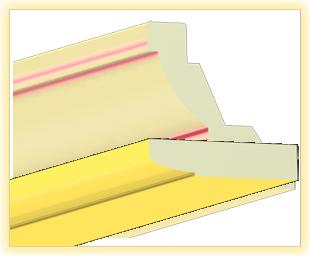 Kranzleiste LA Gelb