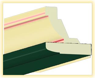 Kranzleiste LA Dunkelgruen