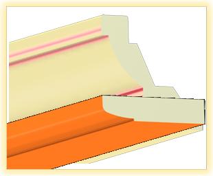 Kranzleiste LA Orange