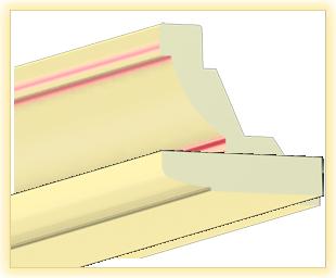 Kranzleiste LA Vanille