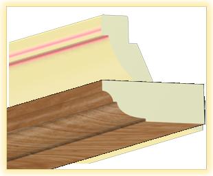 Kranzleiste VL Aspen matt