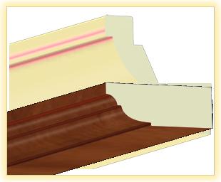Kranzleiste VL Calvados patiniert