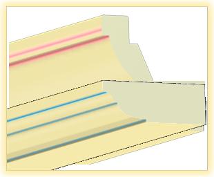 Kranzleiste VL Vanille blau patiniert