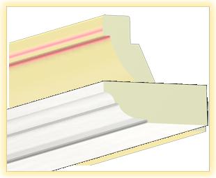 Kranzleiste VL Flader-weiß