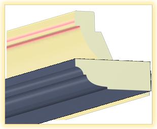Kranzleiste VL Blau-Grau