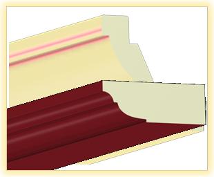 Kranzleiste VL Bordeaux