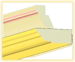 Kranzleiste VL Gelb