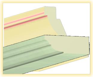 Kranzleiste VL Gruenes Holz
