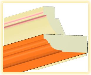 Kranzleiste VL Orange