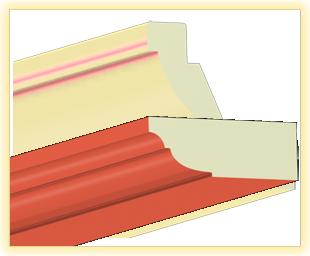Kranzleiste VL Ziegelsteinrot