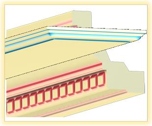 Bartheke HL Vanille blau patiniert